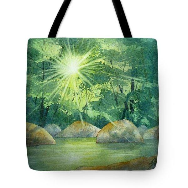 Radiant Recess Tote Bag