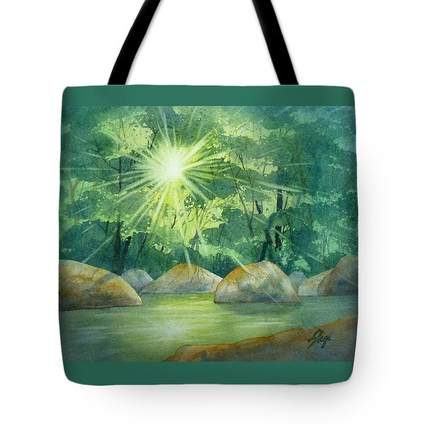 Tote Bag featuring the painting Radiant Recess by Gigi Dequanne