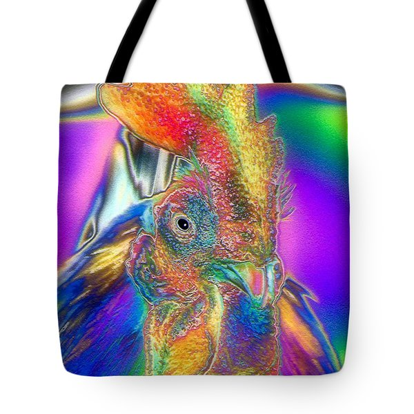 Tote Bag featuring the photograph Radiant Rooster by Patrick Witz
