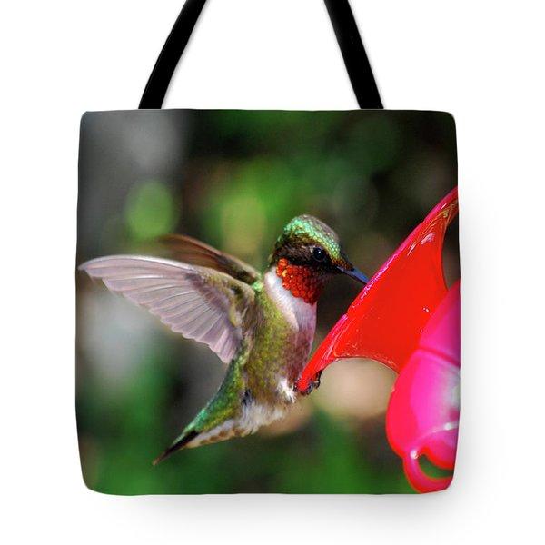 Radiant Ruby Tote Bag
