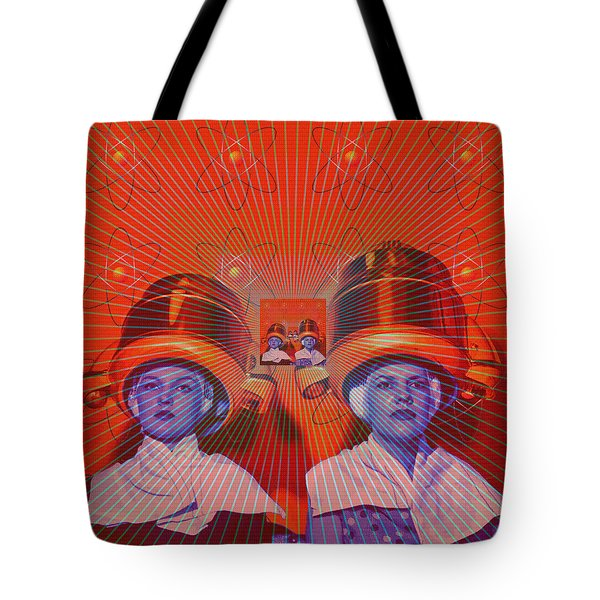 Tote Bag featuring the digital art Radiant by Sasha Keen