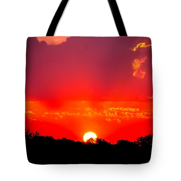 Tote Bag featuring the photograph Radiant Sunset by Dee Dee  Whittle