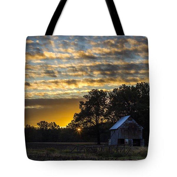 Radiating Sunrise Tote Bag
