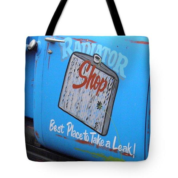 Radiator Shop Tote Bag by Nick Kirby