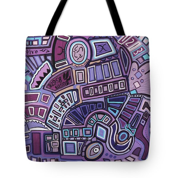 Tote Bag featuring the painting Radio Active by Barbara St Jean