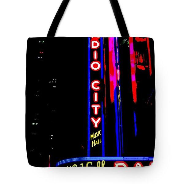 Radio City Music Hall Tote Bag by Ed Weidman