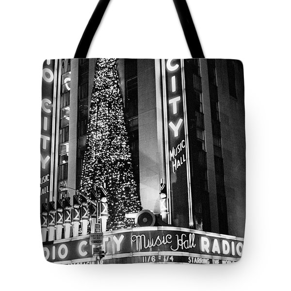 Radio City New York Tote Bag