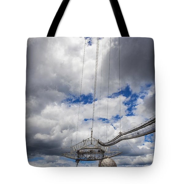 Radio Telescope At Arecibo Observatory In Puerto Rico Tote Bag