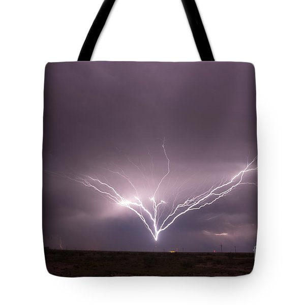 Radio Tower Strike Tote Bag