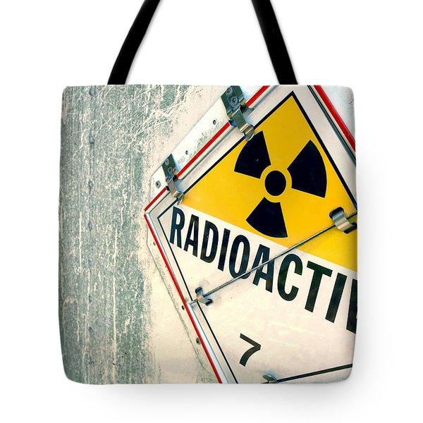 Radioactive Warning Sign Tote Bag