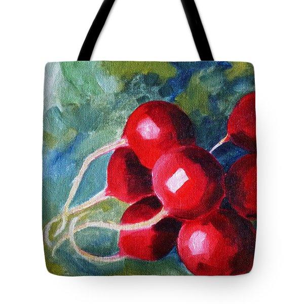 Radish Tote Bag by Nancy Merkle