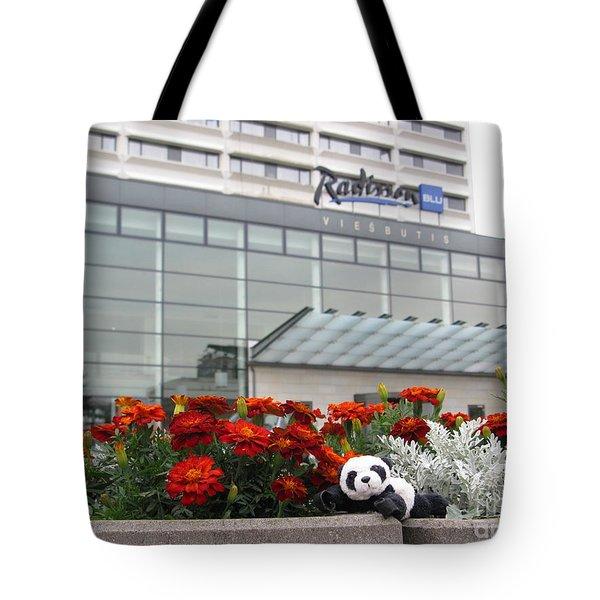 Radisson Blu Lietuva. Baby Panda Likes It Tote Bag by Ausra Huntington nee Paulauskaite