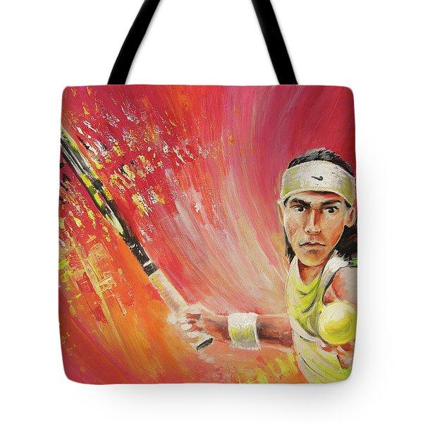 Rafael Nadal Tote Bag by Miki De Goodaboom