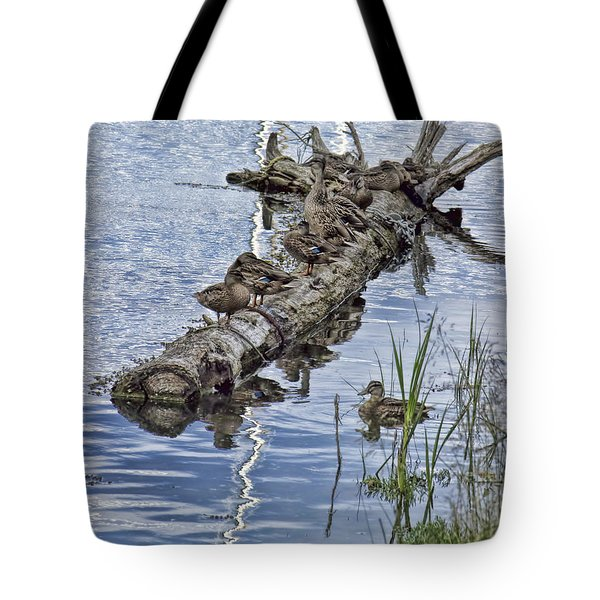 Raft Of Ducks Tote Bag