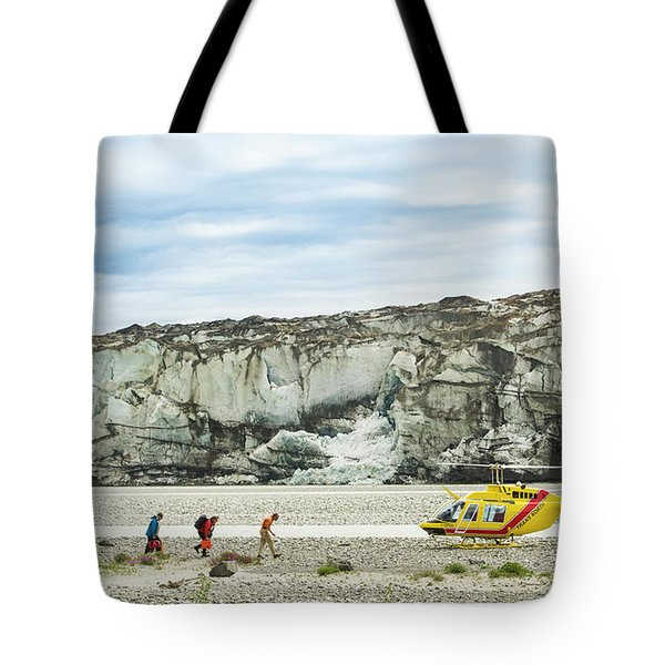 Rafters Loading Helicopter Tote Bag