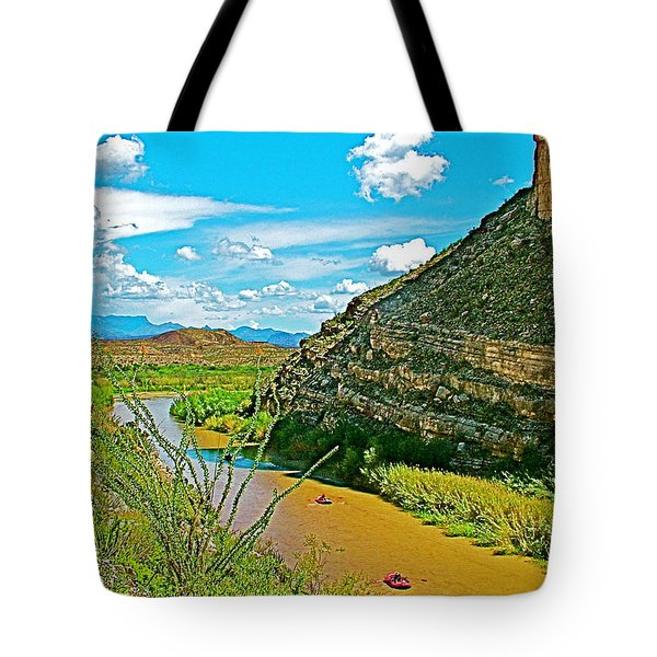 Rafting In Santa Elena Canyon In Big Bend National Park-texas Tote Bag by Ruth Hager