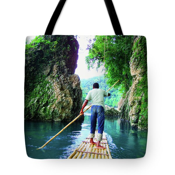Rafting On The Rio Grande Tote Bag by Carey Chen