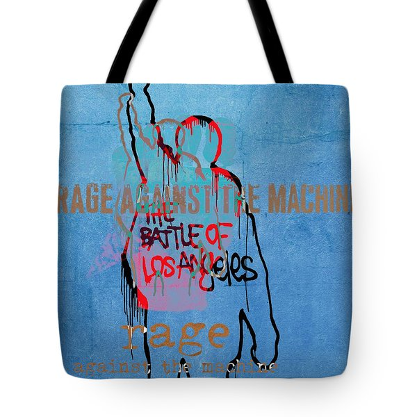 Rage Against The Machine Tote Bag by Dan Sproul