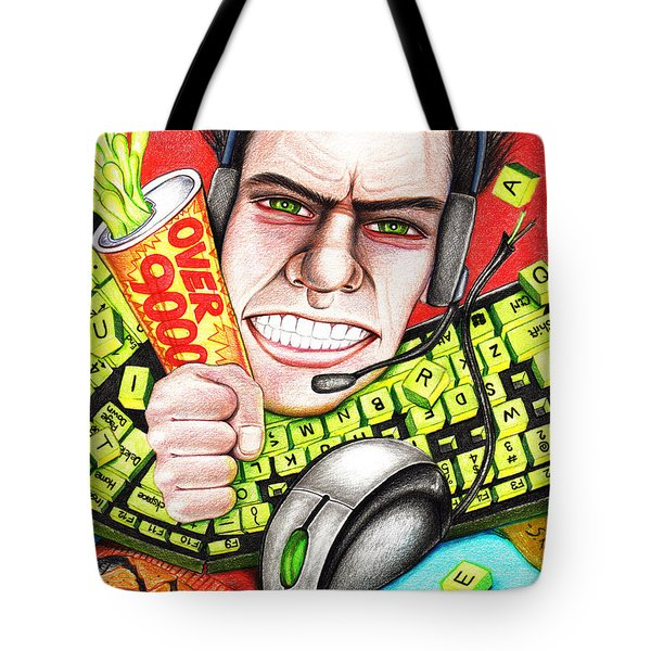 Rage Quit Tote Bag by Shawna Rowe