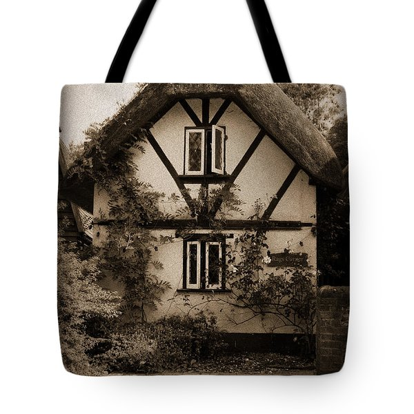 Rags Corner Cottage Nether Wallop Olde Sepia Tote Bag