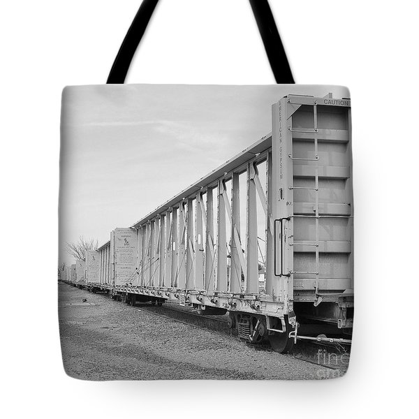 Rail Cars Tote Bag