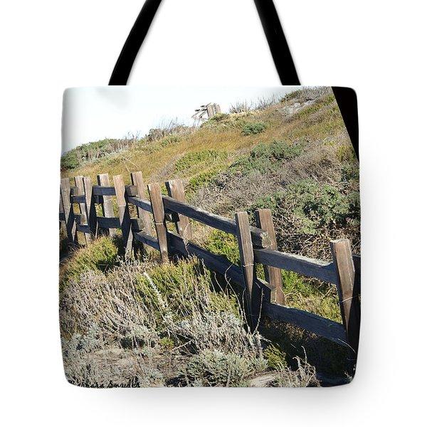 Rail Fence Black Tote Bag by Barbara Snyder