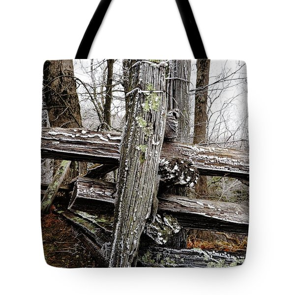 Rail Fence With Ice Tote Bag