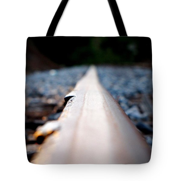 Tote Bag featuring the photograph Rail Line by Greg Simmons