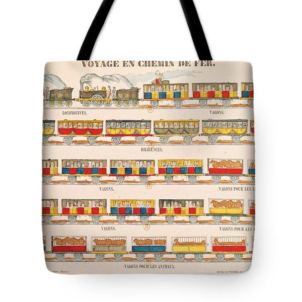 Rail Travel In 1845  Tote Bag