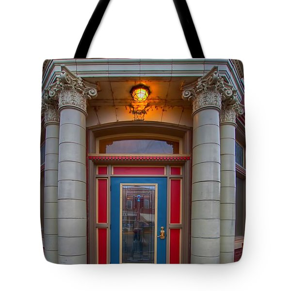 Railey And Bro Bkg Co Building Tote Bag by Liane Wright