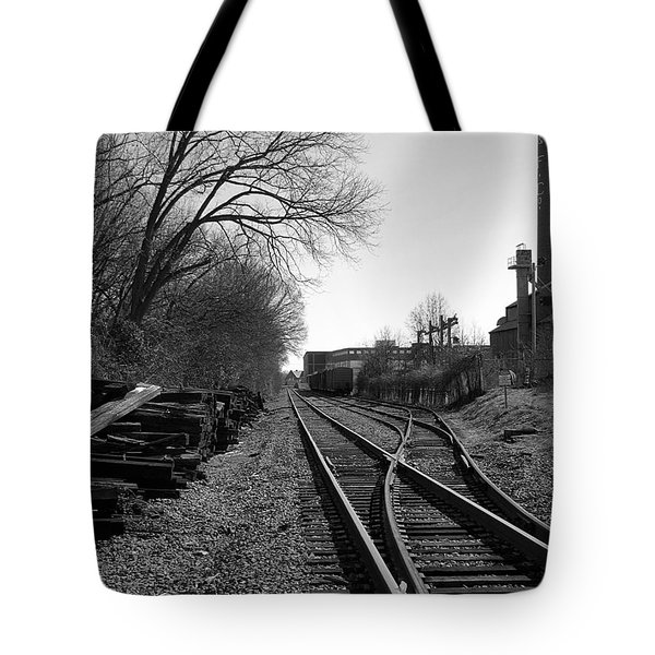 Tote Bag featuring the photograph Railroad Siding by Greg Simmons