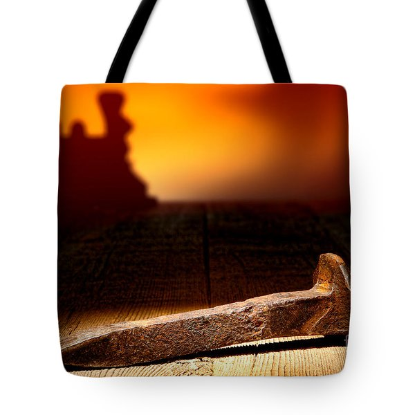 Railroad Spike Tote Bag