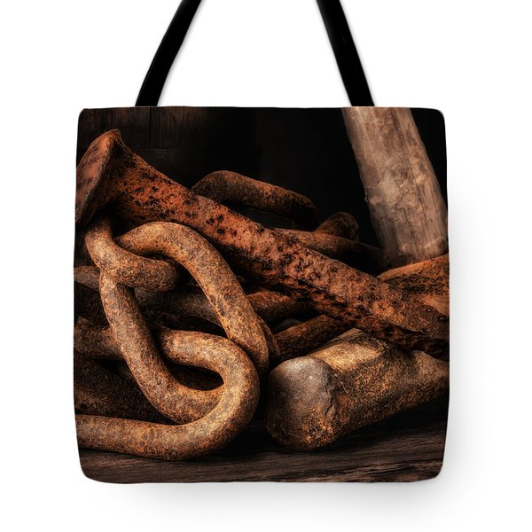 Railroad Spike Still Life Tote Bag
