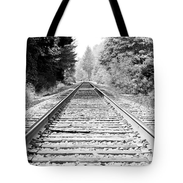 Railroad Tracks Tote Bag