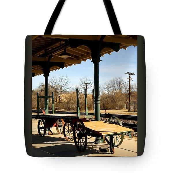 Railroad Wagons Tote Bag