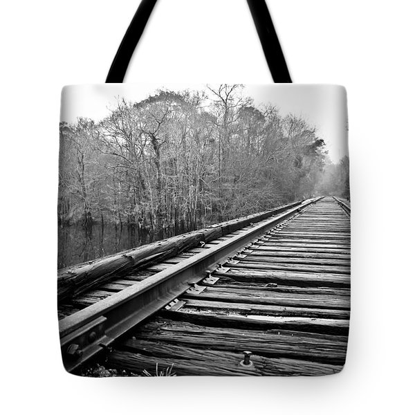 Rails Over Water Tote Bag