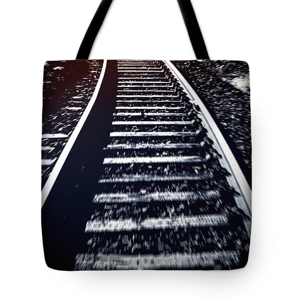 Tote Bag featuring the photograph Railtrack by Craig B