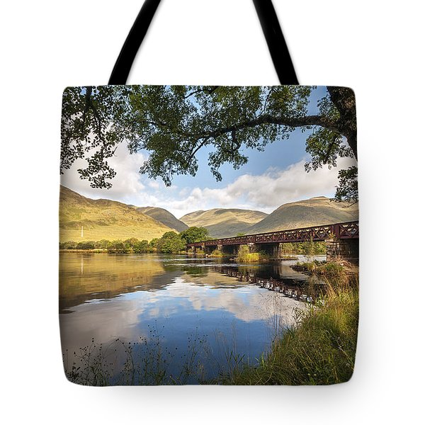 Railway Viaduct Over River Orchy Tote Bag