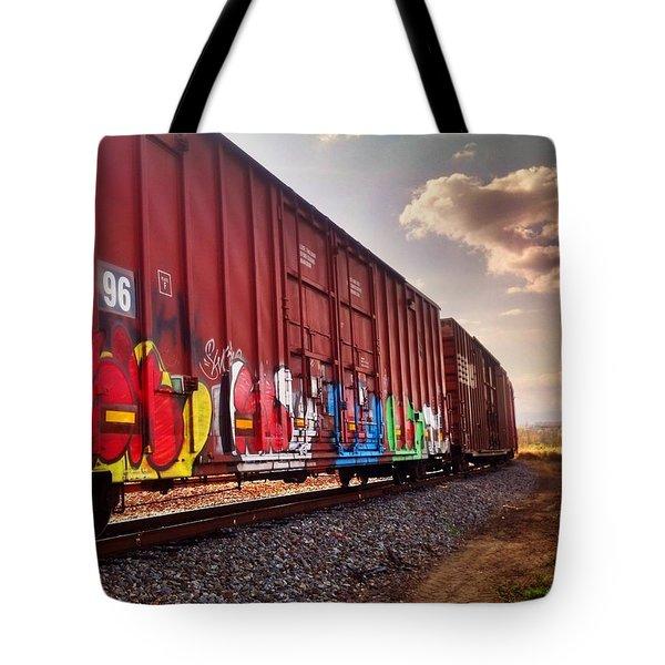 Railways Tote Bag by Janice Spivey