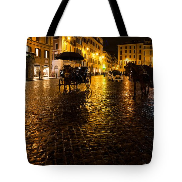Rain Chased The Tourists Away... Tote Bag