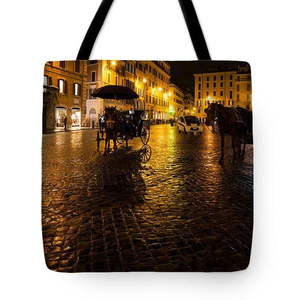Rain Chased The Tourists Away... Tote Bag