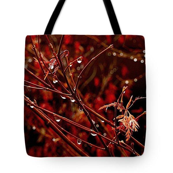 Rain Dance Tote Bag by Rona Black