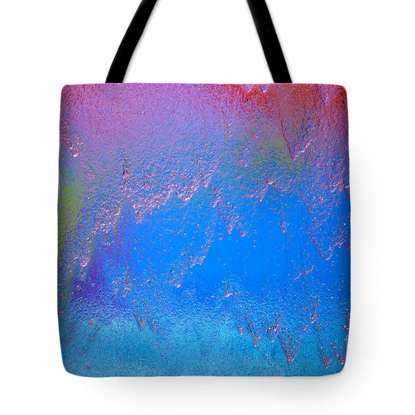 Rain Drops Abstract Tote Bag