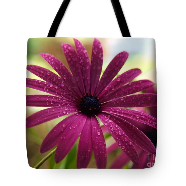 Tote Bag featuring the photograph Rain Drops by Trena Mara
