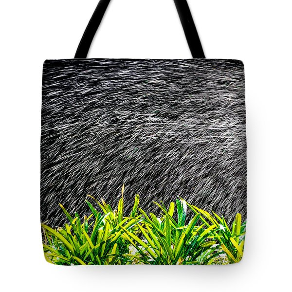 Tote Bag featuring the photograph Rain In The Garden by Edgar Laureano