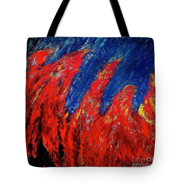 Rain On Fire Tote Bag