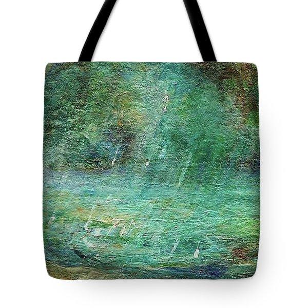 Rain On The Pond Tote Bag