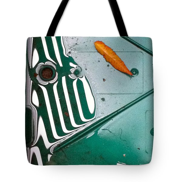 Tote Bag featuring the photograph Rain Reflections by Bill Owen