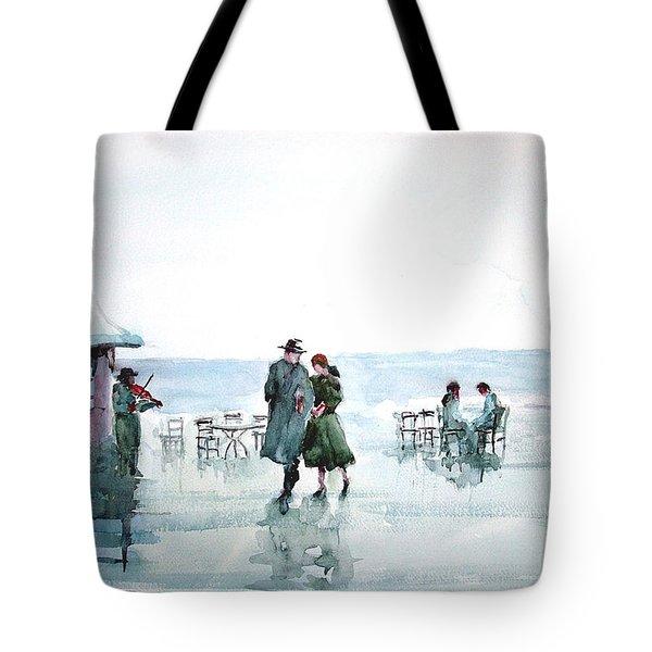 Tote Bag featuring the painting Rain Serenad - Moments Of Life... by Faruk Koksal