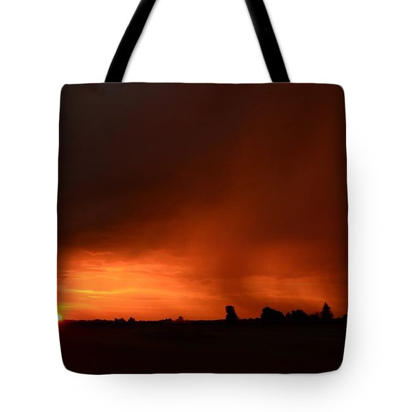 Rain Squall Sunrise Tote Bag